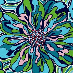 Lilly Pulitzer 1960's style floral Print Design