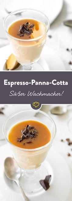 Nehme ich jetzt noch einen leckeren italienischen Nachtisch oder doch einen guten Espresso? Du musst dich nicht entscheiden, es gibt beides zusammen!