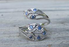 Sapphire Leaf Ring