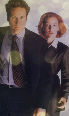 David Duchovny & Gillian Anderson as Mulder and Scully