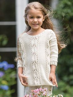 MAGNOLIA from Little Rowan Blossom (ZB203). A collection for girls aged 3 to 6 years, featuring 15 designs by Linda Whaley | English Yarns