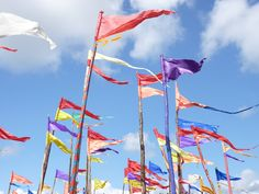Flags everywhere at Glasto festival