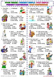 present continuous tense worksheet for kid - ค้นหาด้วย Google