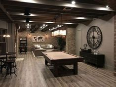 Unfinished basement ideas that marketed our house! You don't need a completed basement to get the most for your loan, you simply require a nice location. Discover for Unfinished Basement Ideas to add to your very own home. Small Basements, Rustic Basement, House, Rec Room, Home, Basement Gym, Basement Flooring, Basement Decor, Basement Design