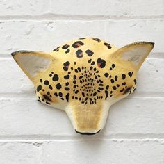 Beautiful, unique animal artworks in fabric and paper by Abigail Brown Paper Mache Head, Paper Mache Sculpture, Animal Masks, Animal Heads, Large Scale Art, Paper Bowls, Neutral Art, Masks Art, Animal Projects