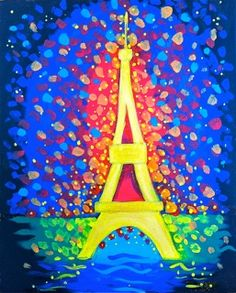 BYOB Painting Class: Eiffel Tower Celebration! on 2/19/2014 7:00:00 PM - at Paint Until You Faint