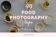 A collection of 99 food photography tips from photographers at all stages of their creative journey. Tips about lighting, hacks, props, styling and mindset.