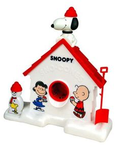 Snoopy Sno-Cone Machine... Santa brought the boys one for Christmas and it brings back memories from when I was a kid!