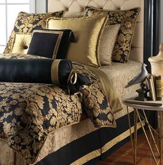 Black And Gold Bedroom Decor Comforter Gray Bedding