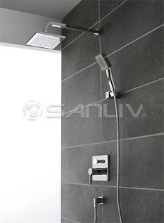 Concealed rainshower valve set