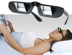 Prism Glasses. Seriously! Read laying flat with no stiff neck or sore arms | 30 Things You Had No Idea You Needed