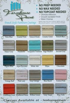 painted furniture colors. farmhouse paint color chart single step no prep wax 32 a painted furniture colors t