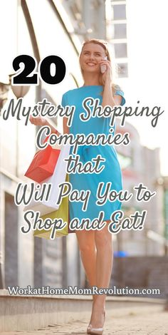 20 Mystery Shopping Companies that Will Pay You to Shop and Eat! Mystery shopping is a super home-based extra money opportunity! It's fun and flexible and can be quite lucrative. Here's a list of 20 companies hiring now!