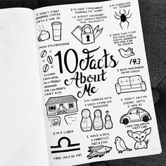 I was tagged by a few people to give 20 facts about myself, so I decided to cut that down to 10, and doodle my facts instead . (Sorry…
