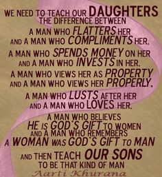 ❥ Teach your daughters well...