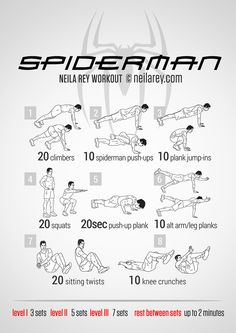 Spiderman Workout - who DOESN'T want to be svelte like Spiderman?