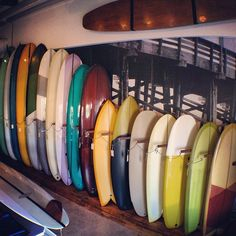 The sun is shining, and new stock boards are re-filling the racks at #almondsurfboards today. (at Almond Surfboards)