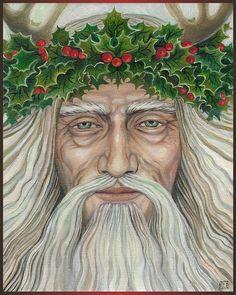 De Holly koning - heidense winterzonnewende God 8 x 10 afdrukken