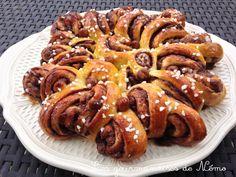 Brioche spirale infernale nutella et noisettes