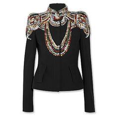 Alexander McQueen Crystal-Embellished Jacket
