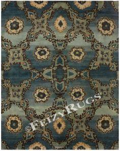 deep blue rug