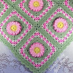 Check out our crochet baby flower blanket pattern selection for the very best in unique or custom, handmade pieces from our crochet shops. Baby Afghan Crochet Patterns, Baby Blanket Crochet, Crochet Afghans, Crochet Blankets, Crochet Granny, Crochet Stitches, Crochet Car, Crochet Flower, Baby Afghans