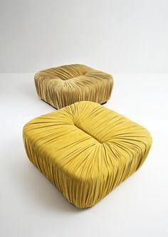 Square Pouf - Drapé collection by Bartoli Design | Laurameroni