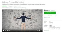 [100% Free Udemy Course] Udemy Course Marketing   Course Description  I already know what you want. You want more students reviews and sales!  After all that's all it takes to become a successful Udemy instructor. Students reviews and sales. So why then do some people want to make Udemy course marketing seem so complicated?  Note two things regarding my initial statement. First:  Students >>> Reviews >>> Sales >>> Students ...  This is a more accurate depiction of the relationship between…
