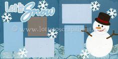 Let It Snow Scrapbook Page Kit