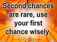 Second Chance...
