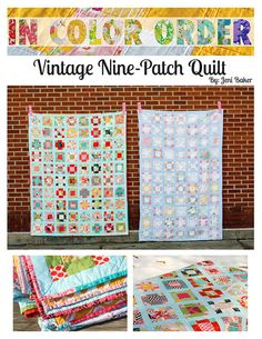 Vintage Nine-Patch Quilt by Jeni Baker, via Flickr with a link to the pattern