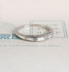 perfect wedding band, hopefully i can have one made, since some other lucky person got this one