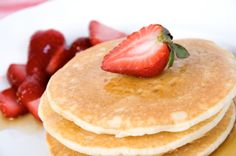 "By Kimberly Roberto, co-author of Maximized Living Nutrtion Plans Delicious, no-fuss pancakes made from almond meal. Top with the strawberry sauce from the Maximized Living Nutrition Plans book to complete this recipe.  Even though pure maple syrup is ""natural"", it still spikes insulin w"