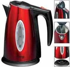 Wasserkocher in Metallic-Rot