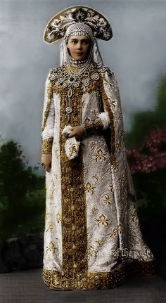 Grand Duchess Xenia Alexandrovna at the Winter Palace Costume Ball of 1903.