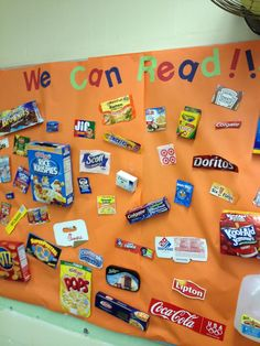 """We Read Every Day!"" Display board idea."