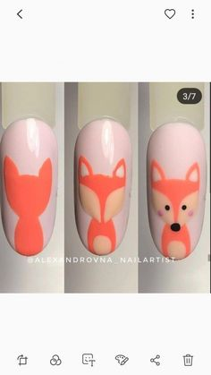 Hottest Pics Fall Nail Art fox Strategies Give golden glitters a fall-perfect revise with the uber very the fall leaf within brilliant fruit s Nail Art Hacks, Nail Art Blog, Nail Art Diy, Cool Nail Art, Diy Ongles, Animal Nail Art, Fall Nail Art Designs, Disney Nails, Pretty Nail Art