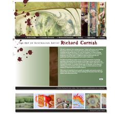 Richard Cornish website front page. It's the only website I've made with Julian Assange on it. Artist Profile, Australian Artists, Website