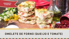 Omelete de Forno (Queijo e Tomate) - Receitas de Minuto EXPRESS #235 - Blog Das Receitas