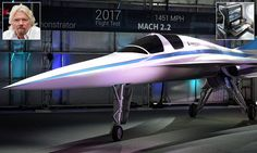 Supersonic 'Baby Boom' aircraft to take off next year: Richard Branson-backed mini-Concorde that can fly from London to New York in 3.5 hours is set for 2018 test flights