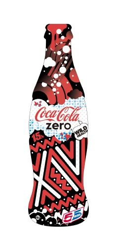 Coca Cola Zero limited edition bottle celebrating the 15th anniversary of the 55DSL brand
