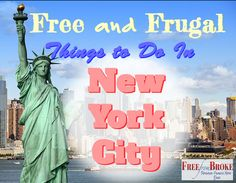 Want to see New York City without spending a fortune? Here is a great list of things to do and see in NYC that are frugal, cheap, or won't cost you much. http://freefrombroke.com/frugal-things-to-do-and-see-in-new-york-city/