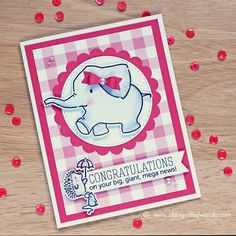 Ella and Friends stamp set by Mama Elephant. Card by Wanda Guess