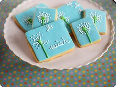 make a wish!  dandelion cookies...