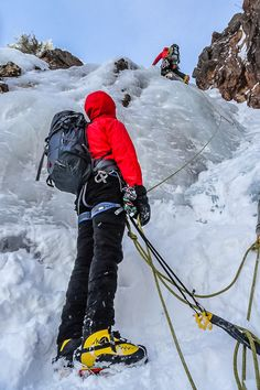 Shoestring Gully on Mount Webster in New Hampshire's White Mountains. Click for details and the trip report