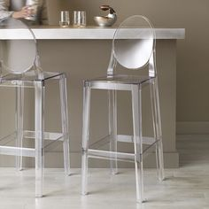 One More One More Please Stool: Philippe Starck adds to the family of Ghost Chairs with this barstool.