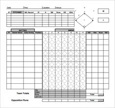 Sample Baseball Score Sheet   6+ Documents In PDF Design Inspirations