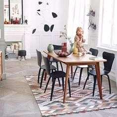 KENSAY dining table, with or without extensions, Nordic inspiration, structure…