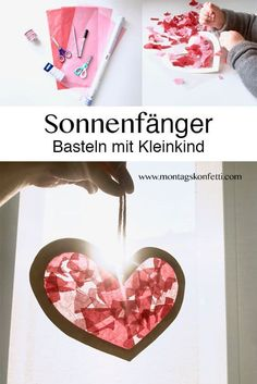 Sun catcher crafts with toddler Basteln mit Kleinkind Valentine's gift for grandma and grandpa I love to work tog Valentines Bricolage, Valentine Day Crafts, Grandma And Grandpa, Grandma Gifts, Sun Catcher, Toddler Crafts, Crafts For Kids, Kids Diy, Architecture Origami
