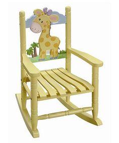 The perfect baby shower gift, the gorgeous Safari kids Giraffe rocking chair. Rocking Chair Nursery, Childrens Rocking Chairs, Baby Chair, Giraffe Nursery, Safari Nursery, Giraffe Baby, Giraffe Print, Folding Chair, Kids Furniture